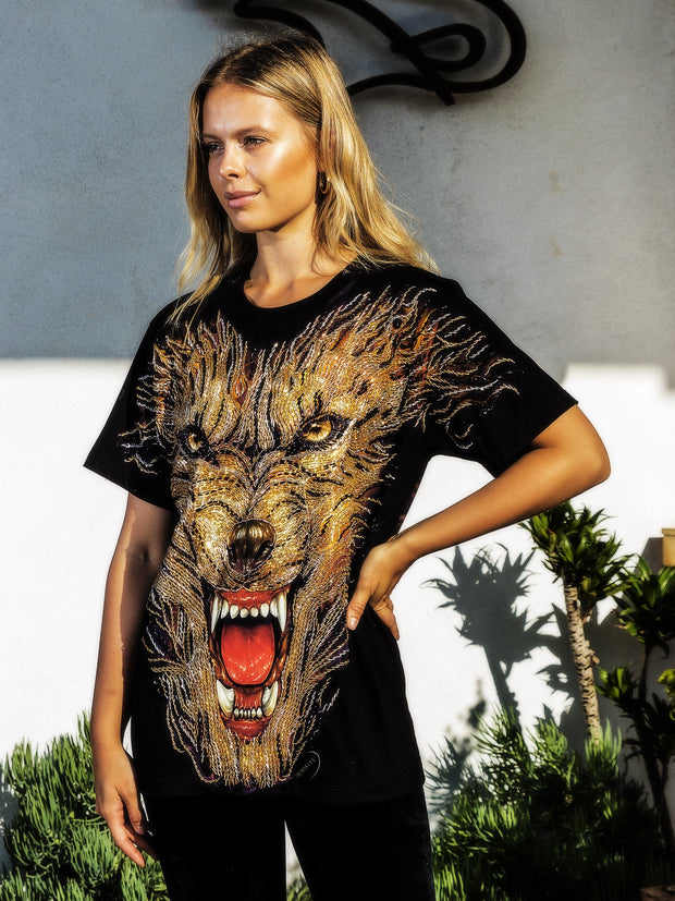 Hell Hound Beaded Glow Shirt