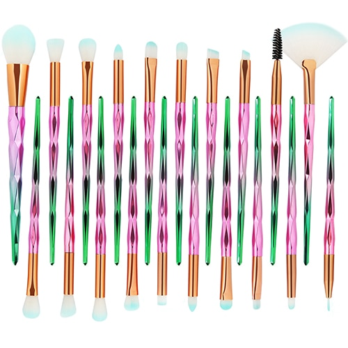 2019 New Diamond 20Pcs Professional Makeup Brushes Comestic Tool Set Make up Brush Tools