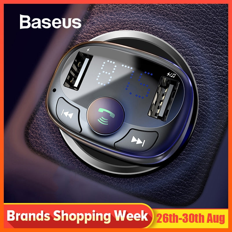 Car Charger for Mobile Phone Handsfree FM Transmitter Bluetooth Car Kit LCD MP3 Player Dual USB