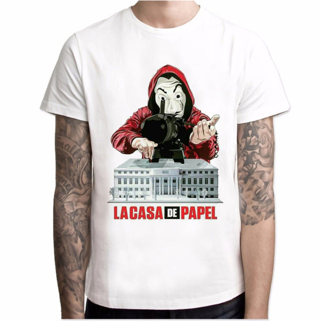 T shirt men Funny Design La Casa De Papel T Shirt Money Heist Tees TV Series Tshirts Men Short Sleeve House of Paper T-Shirt