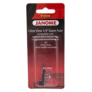 "Janome Clear View 1/4"" Seam Foot for 9mm Machines"