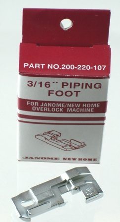 Janome Serger Overlock 3/16 inch Piping Foot