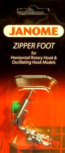 Janome Zipper Foot for Horizontal Rotary Hook & Oscillating Hook Models