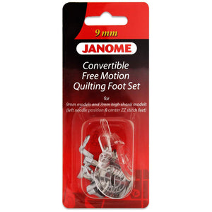 Janome Convertible Free Motion Quilt Foot Set For MC9900
