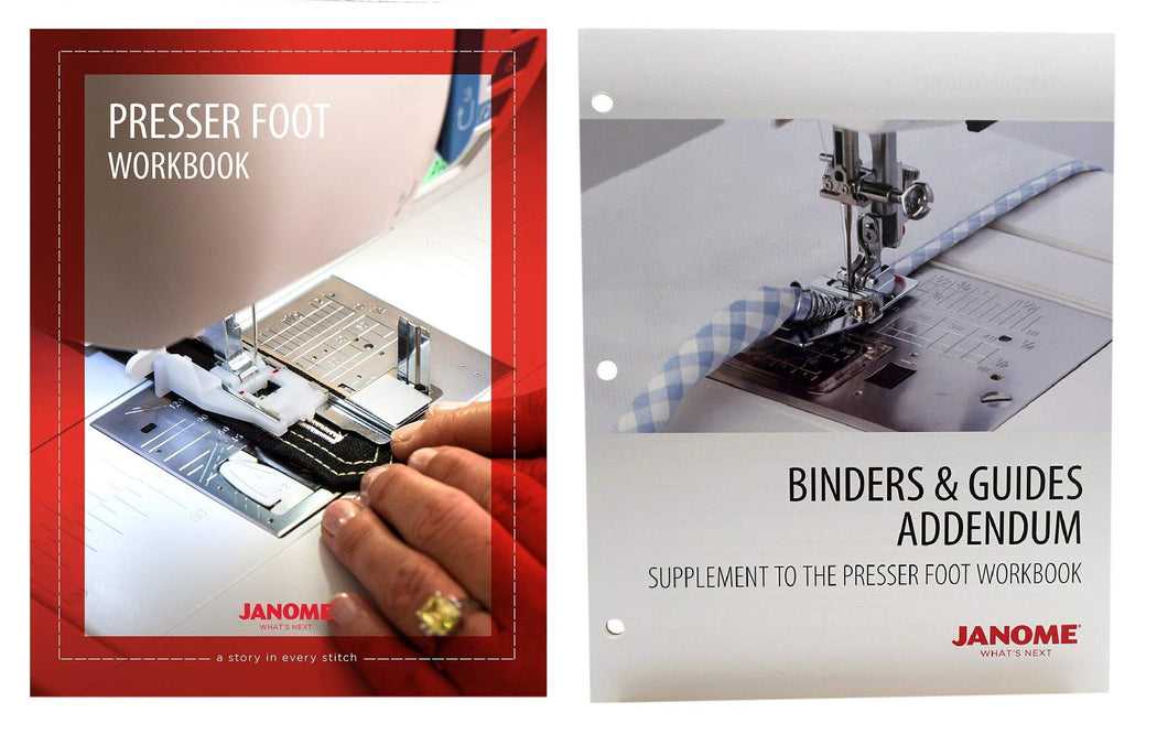 Janome Sewing Machine Presser Foot Workbook with Binders and Guides Addendum