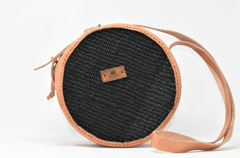 sisal leather crossbody handbag african