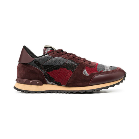 Valentino Rockrunner Red Camo Sneakers