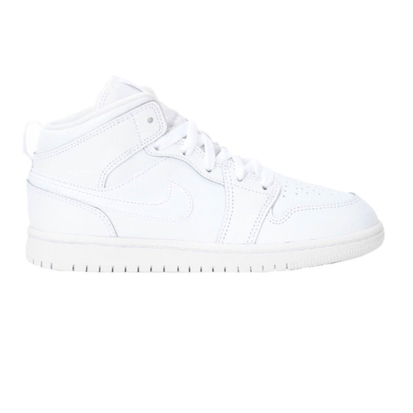 Nike Air Jordan 1 Mid 'Triple White' (GS)