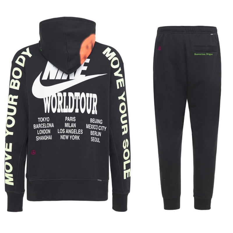 Nike World Tour Hooded Tracksuit 'Black'