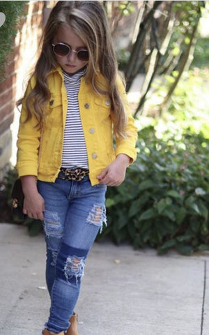 Shine Bright Yellow Denim Jacket