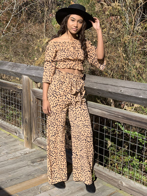 Life is Good Leopard Pants Set