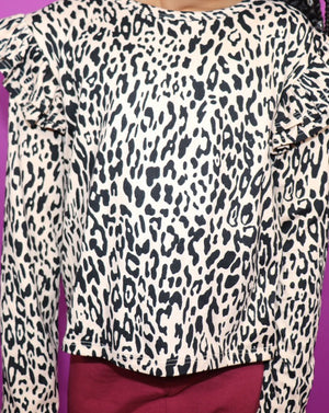 The Leopard Ruffle Top