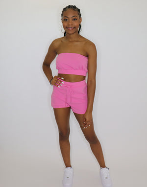 "Bubble-Gum Short Set ""Pink"""