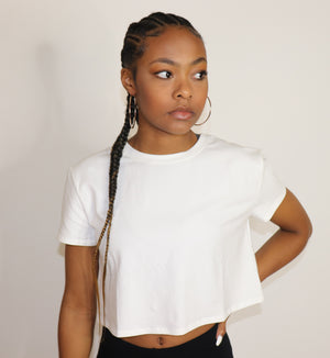 "What's Up Crop Top ""White"""