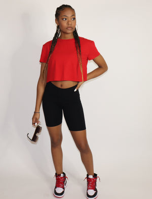 "What's Up Crop Top ""Red"""