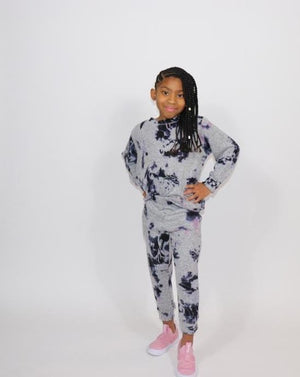 The Cool Kid Loungewear Set-Grey