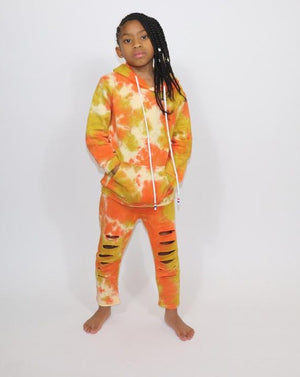 The Cotton Candy Jogger Set-Orange/Yellow