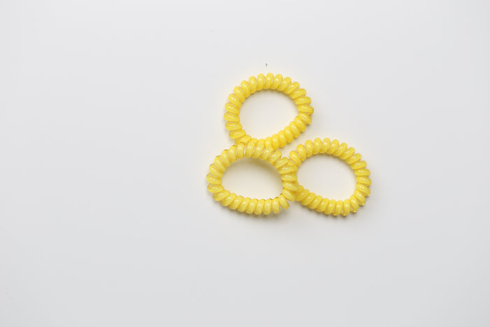 Yellow Pastel Hair Ties