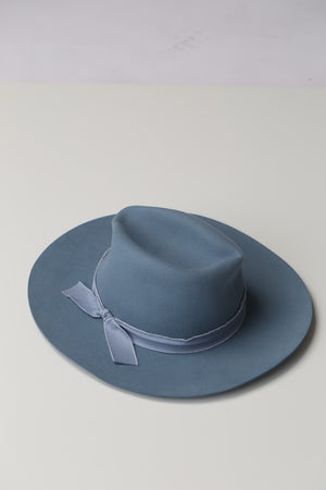 Blue wool felt panama hat, trendy, cute, stylish boutique
