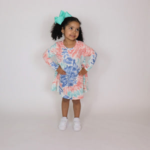 "Sassy Swing Dress ""Pastel Tie-Dye"""