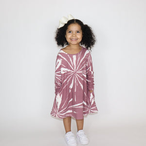 "Sassy Swing Dress ""Mauve Tie-Dye"""