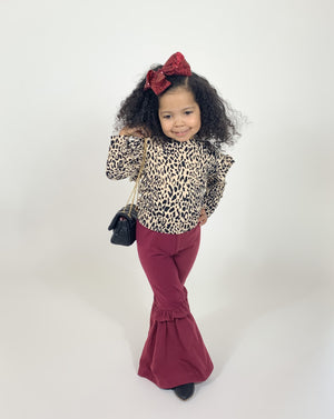 The Bella Pants-Burgundy