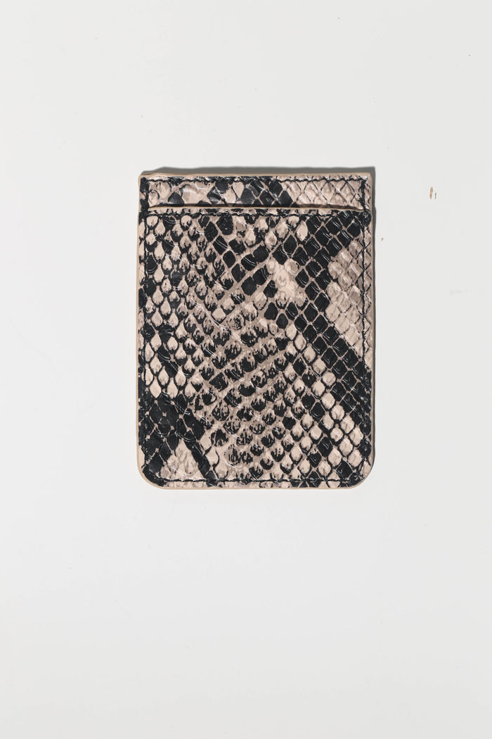 Embossed Python Faux Leather Phone Pocket