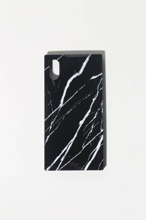 black and white marble phone case for tween girls