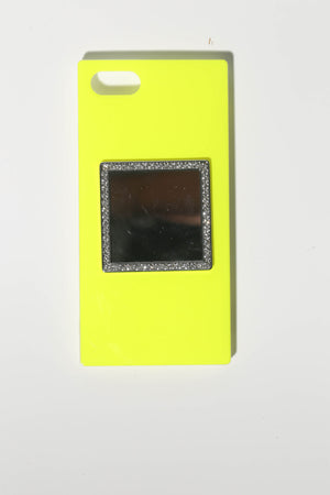 neon yellow phone case for teen girls