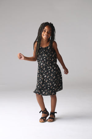 black girls, tweens floral dress trendy, cute, boutique, stylish