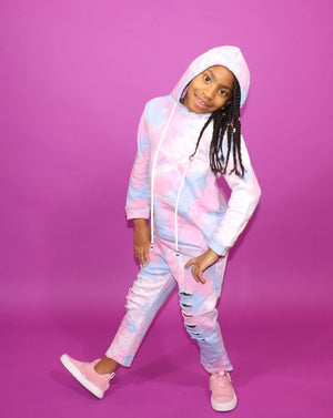 The Cotton Candy Jogger Set-Pink/Blue