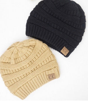 CC Camel Knitted Beanie
