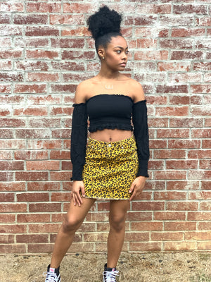 Loud Leopard Skirt