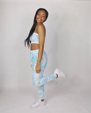"Too Cute Tie-Dye Pants Set ""Blue"""