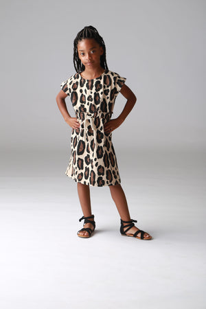 girls, dress leopard print french terry clothing, tweens, trendy