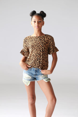 leopard print, girls, tweens, tops, boutique, trendy, fashionable, stylish, cute clothing for girls