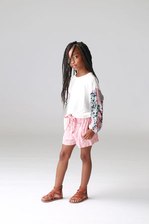 girls, printed tops, paisley print, bubble sleeve, tweens tops, shirts, clothing, boutique, trendy