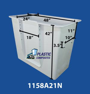 "Buckets - Altec - 24"" x 48"" x 42"" - Step Left - 3.5"" x 10"" Controls Right - Bucket Truck Parts"