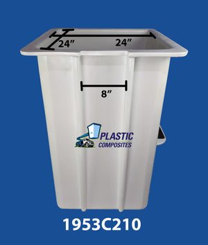 "Buckets - Versalift - 24"" x 24"" x 42"" - No Controls - Wedge Step Right - Bucket Truck Parts"