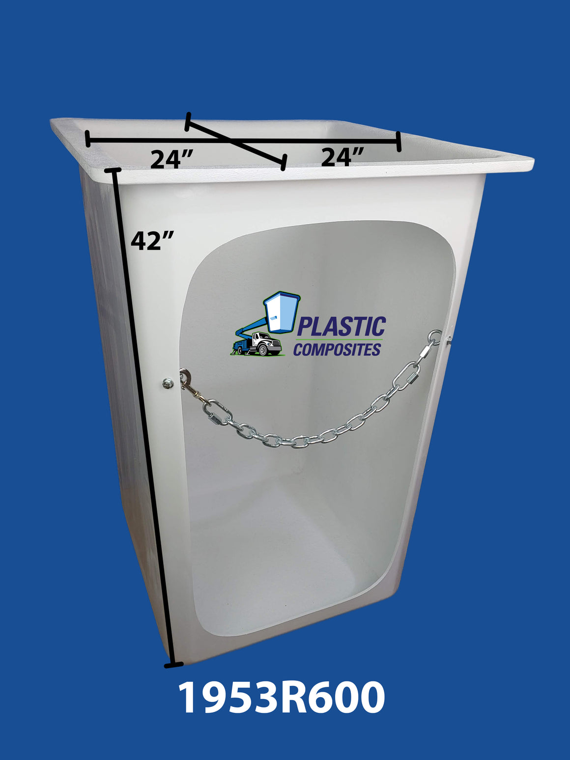 "Buckets - Versalift - 24"" x 24"" x 42"" - L Shaped Bracket - Crawl Thru Front - Bucket Truck Parts"