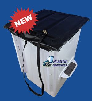 "Bucket Cover - 24"" X 24"" - Folding Hard Top - Bucket Truck Parts"