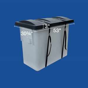 "Bucket Cover - Black Plastic Hardshell - 24"" X 48"" - Plastic Composites Co"