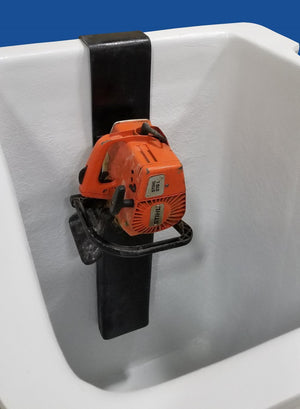 Chainsaw Scabbard - Fiberglass - Bucket Mounted (Lined) - Bucket Truck Parts
