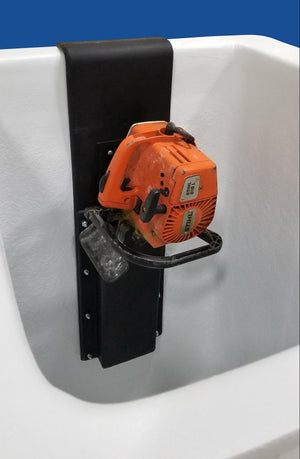 Chainsaw Scabbard - Plastic - Bucket Mounted (Inside Mount Only) (Lined) - Bucket Truck Parts