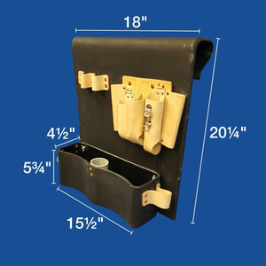 Thigh Brace Tool Tray - Leather Tool Pouch on Top - Plastic Composites Co