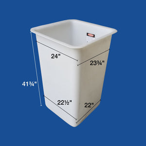 "Bucket Liner - 24"" x 24"" x 42"" - Single Man - (Nonskid) - Plastic Composites Co"