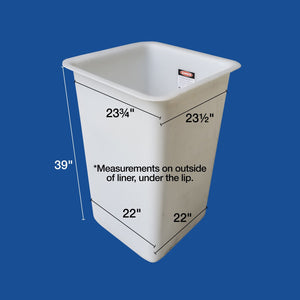"Bucket Liner - 24"" x 24"" x 39"" - Single Man - Bucket Truck Parts"