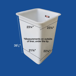 "Bucket Liner - 24"" x 24"" x 40"" - Single Man - Bucket Truck Parts"