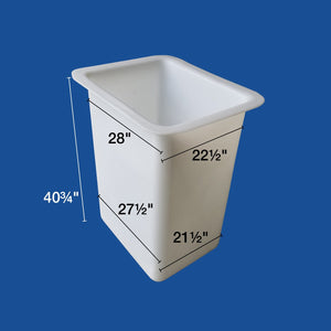 "Bucket Liner - 24"" x 30"" x 42"" - Man and a Half - (Nonskid) - Plastic Composites Co"