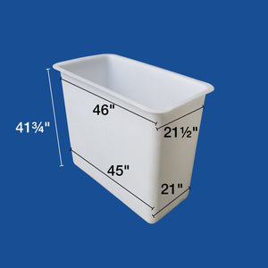 "Bucket Liner - 24"" x 48"" x 42"" - Two Man - (Nonskid) - Plastic Composites Co"